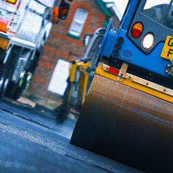 asphalt rolling construction